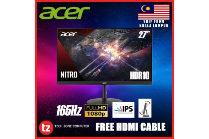 """Acer Nitro XV270P 27"""" FHD IPS 165Hz HDR10 Gaming Monitor (G-SYNC - Compatible) [UM.HX0SM.P02]"""