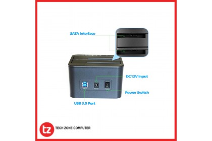 FIDECO Dual Docking Station HDD And SSD YPZ04-S2-U3