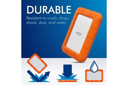 LaCie Rugged Thunderbolt & USB-C USB 3.1 Portable Drive Portable Hard Drive External Hard Disk (2TB / 4TB / 5TB)