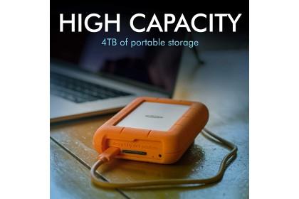LaCie Rugged Raid Pro 4TB Mobile Raid Drive Portable Hard Drive External Hard Disk Portable Drive HDD (STGW4000800)