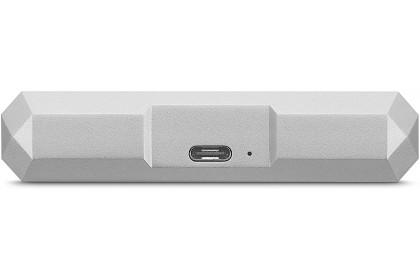 LaCie Mobile Drive USB 3.0 Type-C Portable Hard Drive External Hard Disk Portable Drive - Moon Silver (1TB/2TB/4TB/5TB)