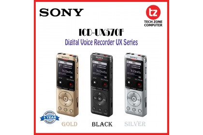 Sony ICD-UX570F Digital Voice Recorder UX Series with Built-in USB | ICD | UX570