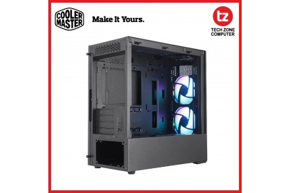 Cooler Master MasterBox MB311L ARGB Micro-ATX Case, 2 ARGB Fans, Fine Mesh Front Panel, Adaptable Drive Cage, Tempered Glass Side Panel