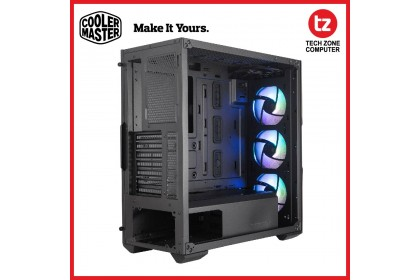 Cooler Master MasterBox TD500 Mesh with ARGB E-ATX Case, 3 ARGB Fans, Polygonal Mesh 3D Contour Front Panel, Crystalline Tempered Glass, Dual 360mm Radiator Support