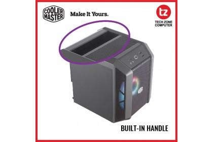 Cooler Master MasterCase H100 ARGB Mini-ITX Case, 200mm ARGB Fan, Fine Mesh Ventilation, Build-in Handle