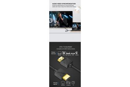DTECH DT-H202 19+1 Pure Copper 4K HD 1.5M HDMI 2.0 Video Cable - Black