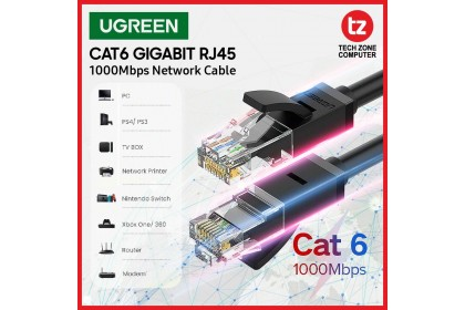 UGREEN Cat6 Ethernet Patch Cable Gigabit RJ45 Network Wire Lan Cable(round cable)