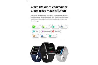 HW16 Smartwatch Wearfit Pro IWO Smartwatch Fitness Tracker Series 6 (Support Android/iOS) Bluetooth Call Full Screen