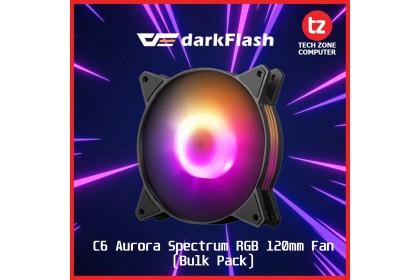 darkFlash C6 Aurora Spectrum RGB Fan (Bulk Packing)
