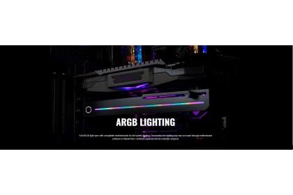 Cooler Master ELV8 GPU Brace with ARGB Strip Lighting - Universal Graphics Card Holder and Brace (MAZ-IMGB-N30NA-R1)