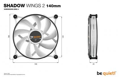 Be Quiet! SHADOW WINGS 2 140mm PWM White Slient Fan (BQ-BL091)