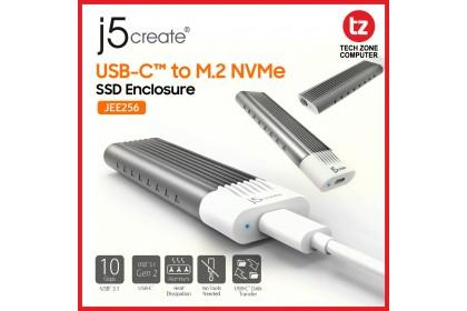 J5Create JEE256 USB C To M.2 NVM3 Enclosure