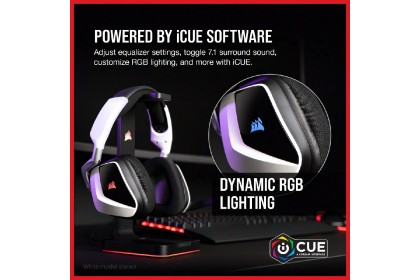 CORSAIR VOID RGB ELITE Wireless Premium Gaming Headset with 7.1 Surround Sound [Carbon] (CA-9011201-AP)
