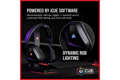 CORSAIR VOID RGB ELITE USB Premium Gaming Headset with 7.1 Surround Sound - [Carbon] (CA-9011203-AP)