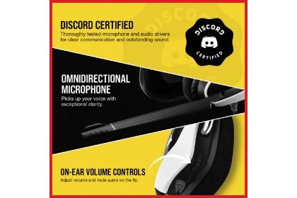CORSAIR VOID RGB ELITE USB Premium Gaming Headset with 7.1 Surround Sound - [White] (CA-9011204-AP)
