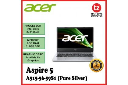 "Acer Aspire 5 FHD Laptop (15.6""/Intel Core 5 1135G7/8GB Ram/512GB SDD/WIN10) A515-56-555H/59S1"