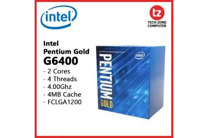 Intel Pentium Gold G6400 4.0Ghz Dual Core 4MB Cache LGA1200 Processor