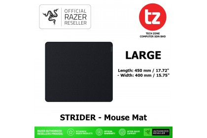 Razer Strider Hybrid Mouse Mat with a Soft Base & Smooth Glide (RZ02-03810200-R3M1 / RZ02-03810100-R3M1)